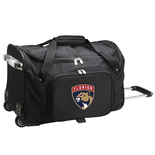 "Florida Panthers 22"" Rolling Duffle Bag"