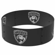 """Florida Panthers 36"""" Round Steel Fire Ring"""