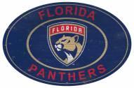 "Florida Panthers 46"" Heritage Logo Oval Sign"