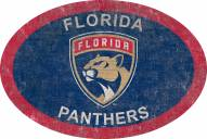 """Florida Panthers 46"""" Team Color Oval Sign"""