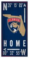 """Florida Panthers 6"""" x 12"""" Coordinates Sign"""