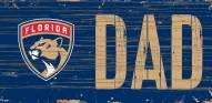 """Florida Panthers 6"""" x 12"""" Dad Sign"""