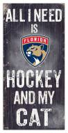 "Florida Panthers 6"" x 12"" Hockey & My Cat Sign"