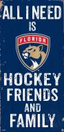 """Florida Panthers 6"""" x 12"""" Friends & Family Sign"""