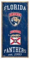 """Florida Panthers 6"""" x 12"""" Heritage Sign"""