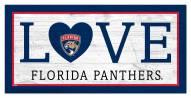 """Florida Panthers 6"""" x 12"""" Love Sign"""