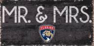 "Florida Panthers 6"" x 12"" Mr. & Mrs. Sign"