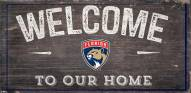 """Florida Panthers 6"""" x 12"""" Welcome Sign"""