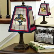 Florida Panthers Art Glass Table Lamp