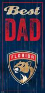 Florida Panthers Best Dad Sign