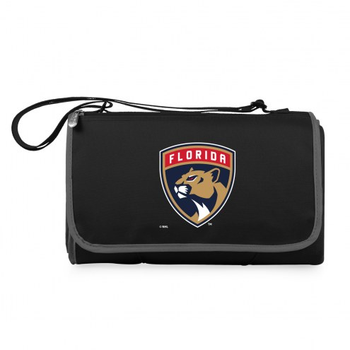 Florida Panthers Black Blanket Tote