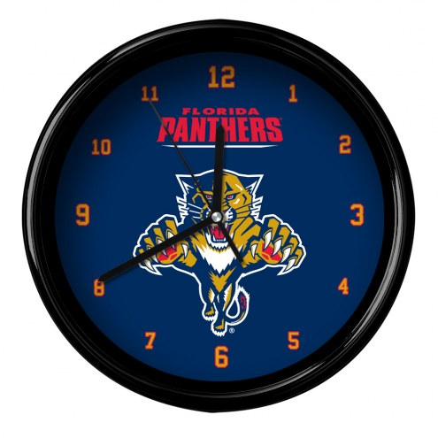 Florida Panthers Black Rim Clock