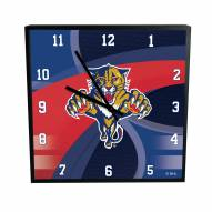 Florida Panthers Carbon Fiber Square Clock