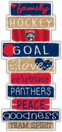 Florida Panthers Celebrations Stack Sign