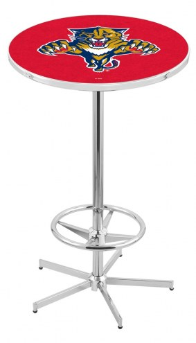 Florida Panthers Chrome Bar Table with Foot Ring