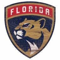 Florida Panthers Distressed Logo Cutout Sign