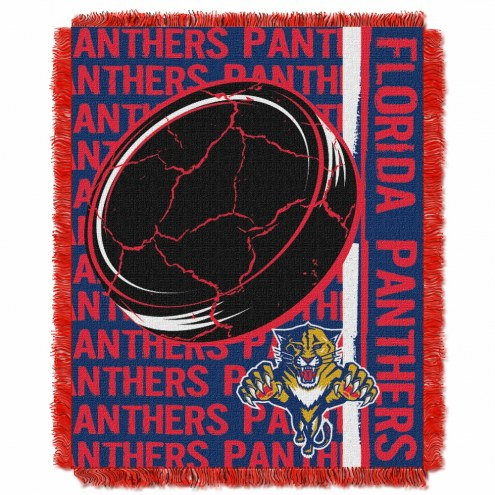 Florida Panthers Double Play Woven Throw Blanket