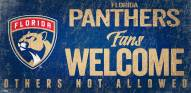 Florida Panthers Fans Welcome Sign
