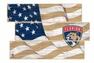 Florida Panthers Flag 3 Plank Sign