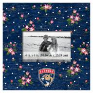 """Florida Panthers Floral 10"""" x 10"""" Picture Frame"""