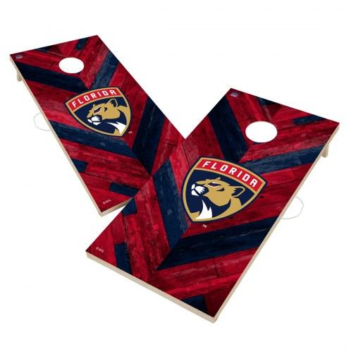 Florida Panthers Herringbone Cornhole Game Set