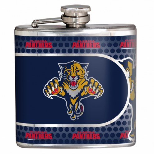 Florida Panthers Hi-Def Stainless Steel Flask