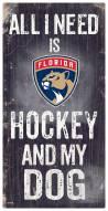 Florida Panthers Hockey & My Dog Sign