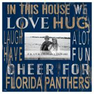 """Florida Panthers In This House 10"""" x 10"""" Picture Frame"""