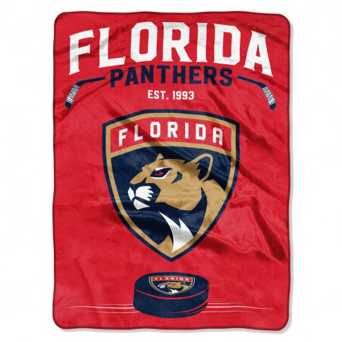 Florida Panthers Inspired Plush Raschel Blanket