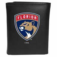 Florida Panthers Large Logo Leather Tri-fold Wallet