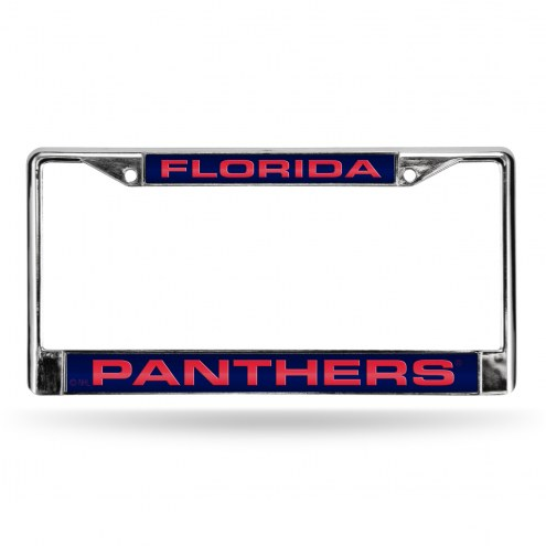 Florida Panthers Laser Chrome License Plate Frame