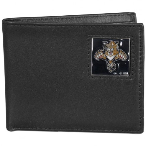 Florida Panthers Leather Bi-fold Wallet in Gift Box