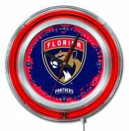 Florida Panthers Neon Clock
