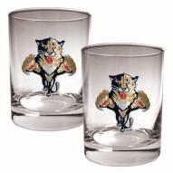 Florida Panthers NHL Rocks Glass - Set of 2