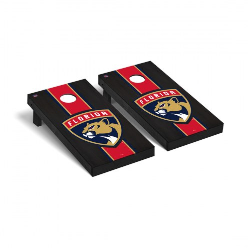 Florida Panthers Onyx Stained Stripe Cornhole Game Set