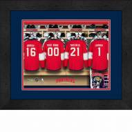 Florida Panthers Personalized Locker Room 13 x 16 Framed Photograph