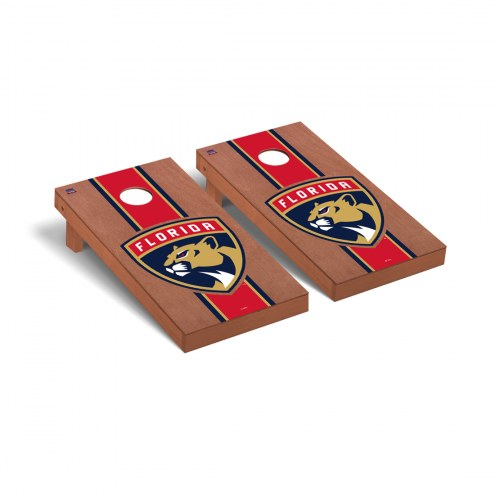 Florida Panthers Rosewood Stained Stripe Cornhole Game Set