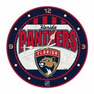 Florida Panthers Stained Glass Wall Clock