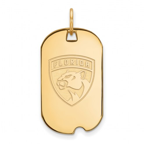 Florida Panthers Sterling Silver Gold Plated Small Dog Tag