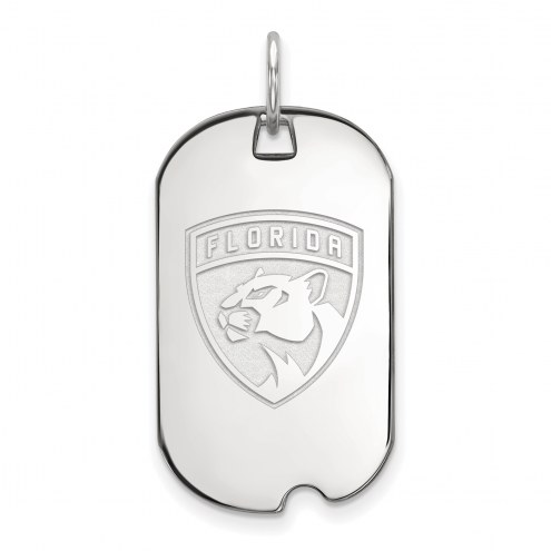 Florida Panthers Sterling Silver Small Dog Tag