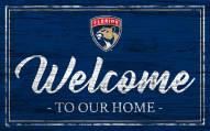 Florida Panthers Team Color Welcome Sign