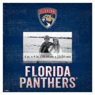 """Florida Panthers Team Name 10"""" x 10"""" Picture Frame"""