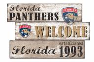 Florida Panthers Welcome 3 Plank Sign