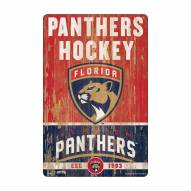 Florida Panthers Slogan Wood Sign