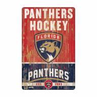 Florida Panthers Slogan Wood Sign