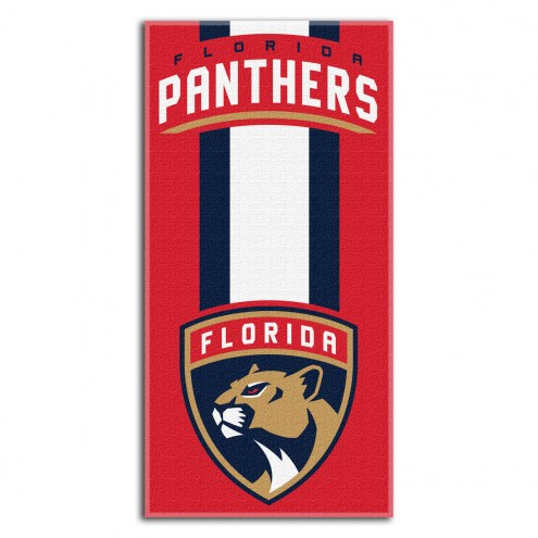Florida Panthers Zone Read Beach Towel