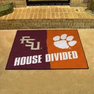 Florida State/Clemson House Divided Mat