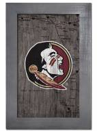 """Florida State Seminoles 11"""" x 19"""" City Map Framed Sign"""