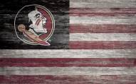 "Florida State Seminoles 11"" x 19"" Distressed Flag Sign"