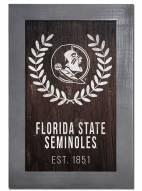 "Florida State Seminoles 11"" x 19"" Laurel Wreath Framed Sign"